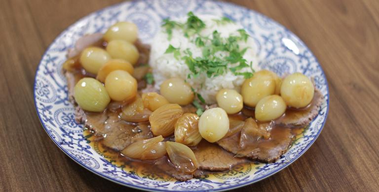 Guirlanda de carne e arroz