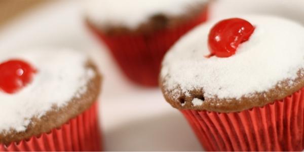 Cupcake de Feijão e Chocolate